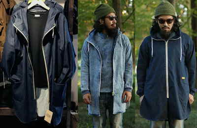 NATAL DESIGN DENIM SWEAT PARKA LONG