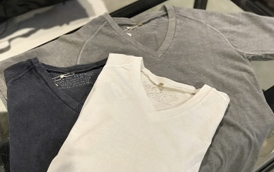 Nigel Cabourn WOMAN V Neck T-Shirt