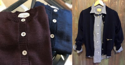 Nigel Cabourn Womans CREW NECK CARDIGAN